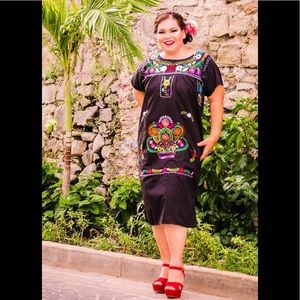 MEXICAN dresses embroidered PLUS SIZES AVAILABLE